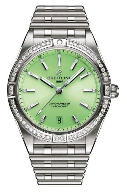 Breitling: Chronomat Automatic 36 Millimeter Stahl Grün Diamant