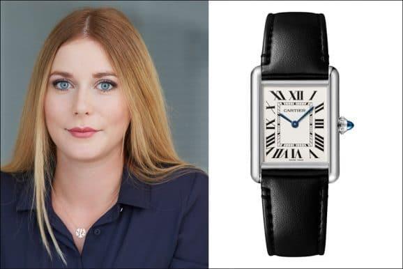 Nadja Ehrlich, erantwortliche Online-Redakteurin Watchtime.net, gefällt die Cartier Tank Must Solarbeat Photovoltaik
