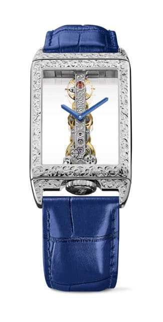 Corum: Golden Bridge Rectangle Hand Engraving