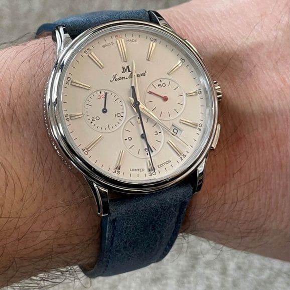 So sieht der Jean Marcel Artem Élégance Chronograph am Arm aus