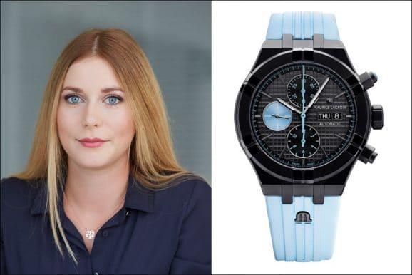 Tipp für eine bunte Uhr von Nadja Ehrlich, Verantwortliche Online-Redakteurin Watchtime.net: Maurice Lacroix Aikon Chronograph Sprint