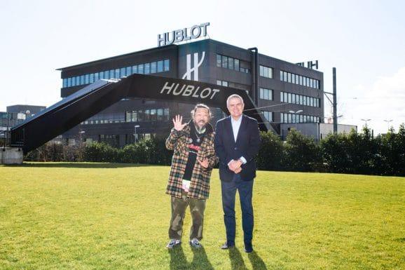 Takashi Murakami mit Hublot-CEO Ricardo Guadalupe
