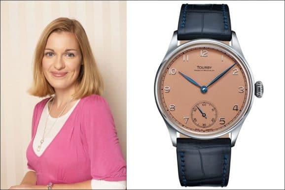 Katharina Studer, Redakteurin Watchtime.net, empfiehlt die Tourby Watches Art Déco Salmon Dial