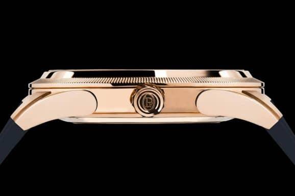 Parmigiani: Tonda GT Rose Gold Blue Gehäuse seitlich