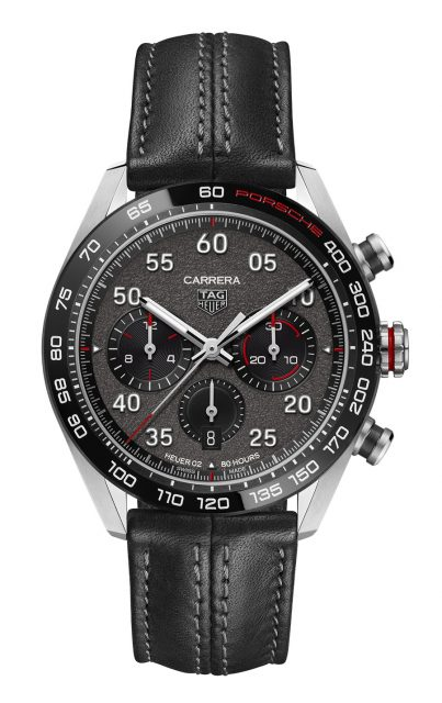 TAG Heuer: Carrera Porsche Chronograph Special Edition mit Lederband
