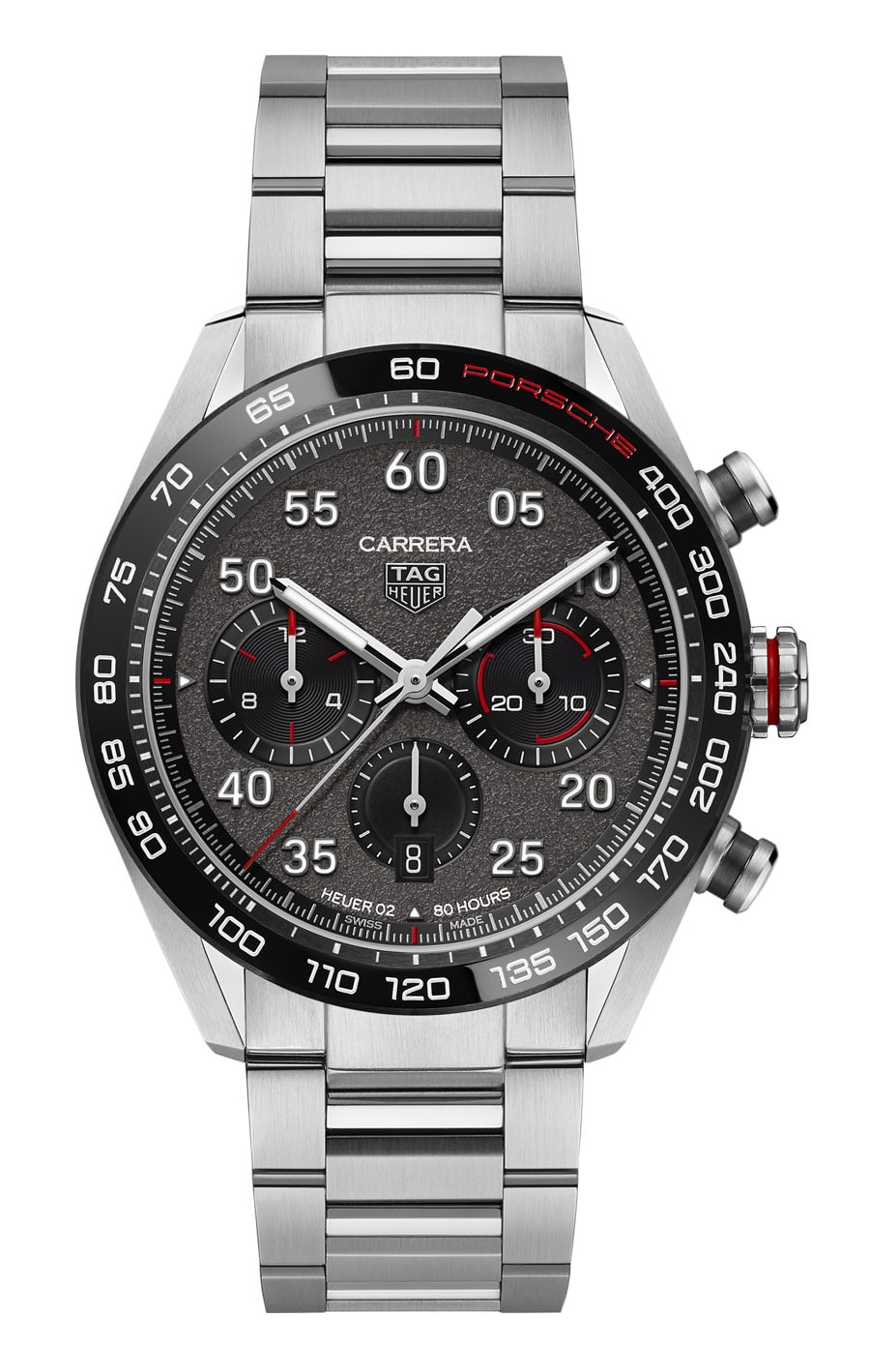 TAG Heuer: Carrera Porsche Chronograph Special Edition mit Stahlband