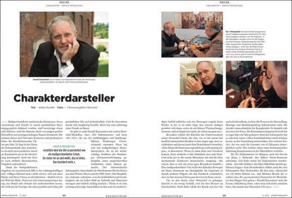 UHREN-MAGAZIN Heft 2/2021: Die Lieblingsuhr von Harald Krassnitzer