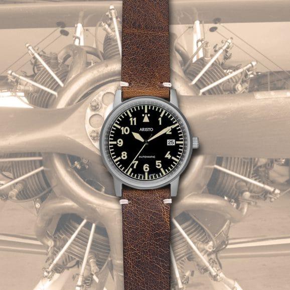 Aristo: Kleine Vintage Titan Flieger Automatic