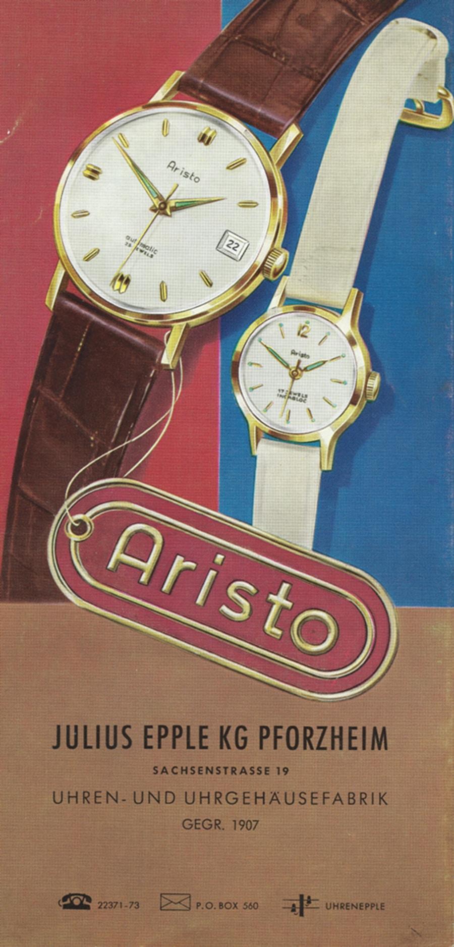 Aristo Titelseite von 1950