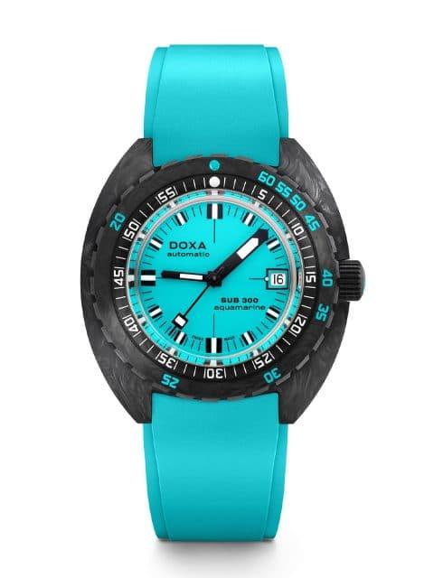Doxa: Sub 300 Carbon COSC Aquamarine Türkis