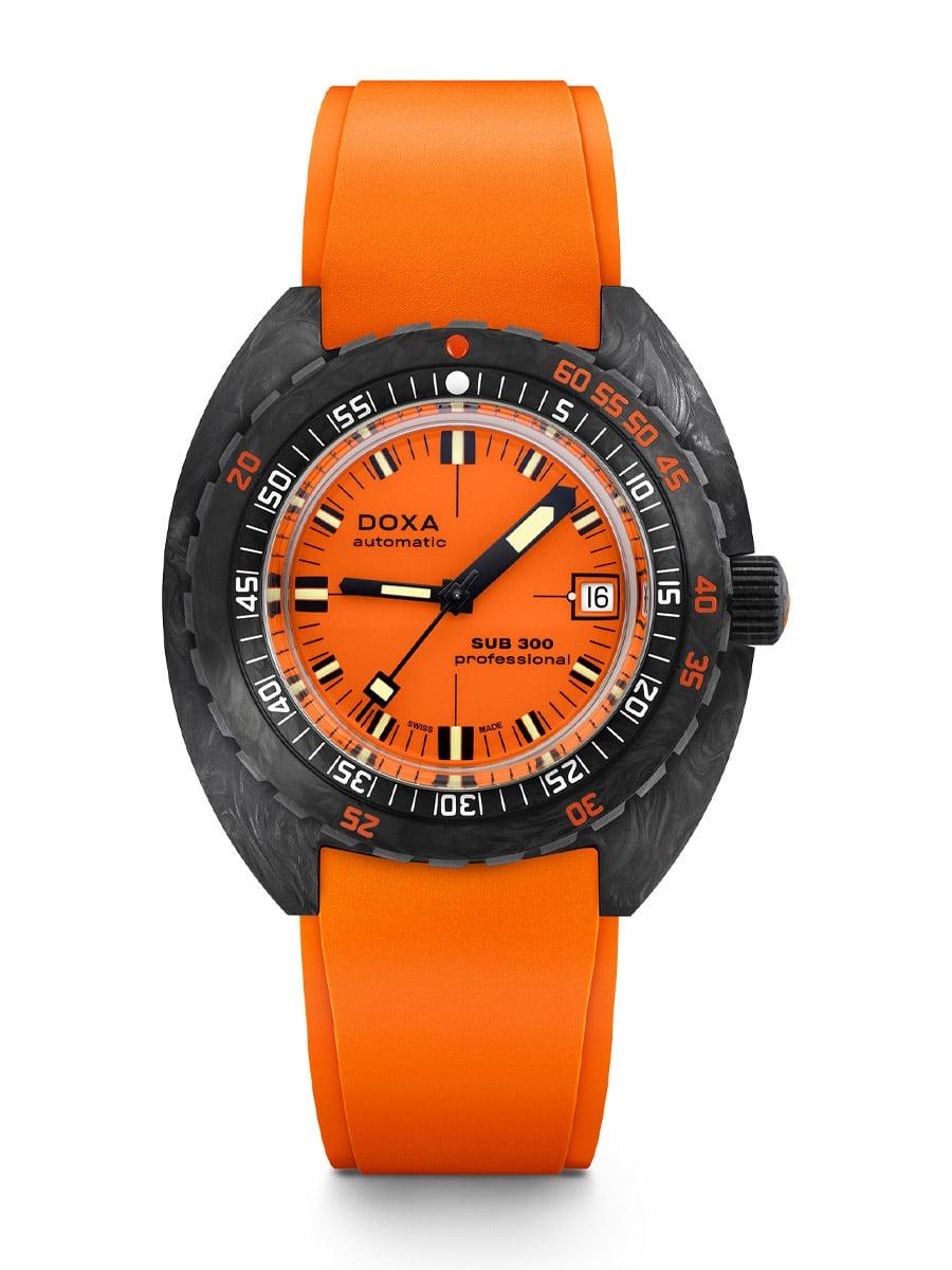 Doxa Sub 300 Carbon COSC Professional Orange