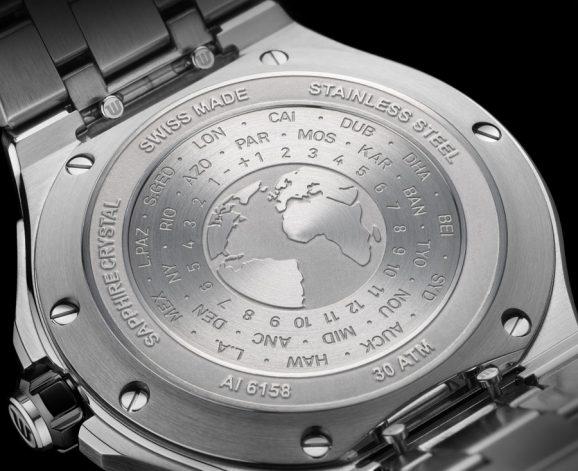 Maurice Lacroix: Aikon Venturer GMT mit den Zeitzonen im Gehäuseboden