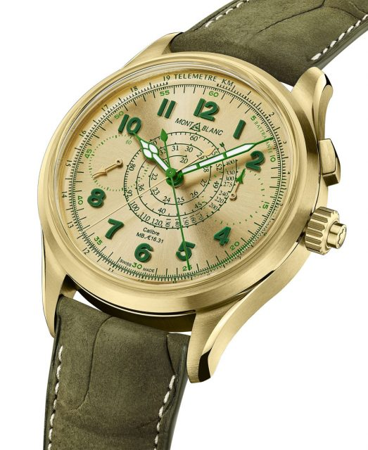 Montblanc: 1858 Split Second Chronograph LE18 in Lime Gold