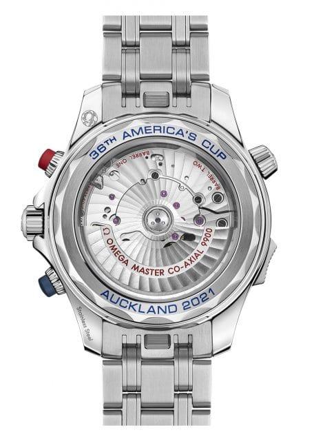 Omega Seamaster Diver 300M America's Cup Chronograph Gehäuserückseite