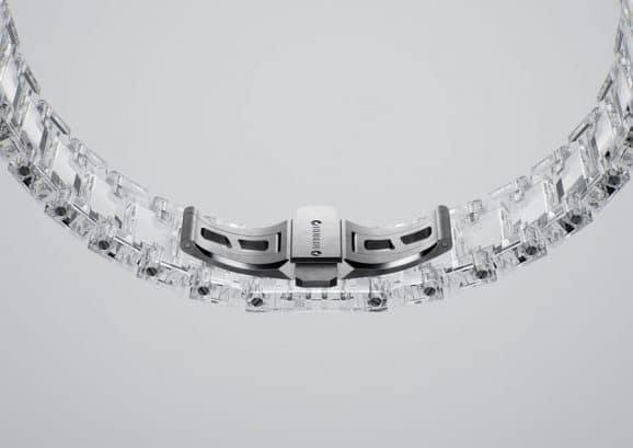 Hublot: Armband und Schließe der Big Bang Integral Tourbillon Full Sapphire