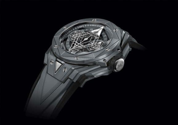 Hublot: Big Bang Sang Bleu II in grauer Keramik