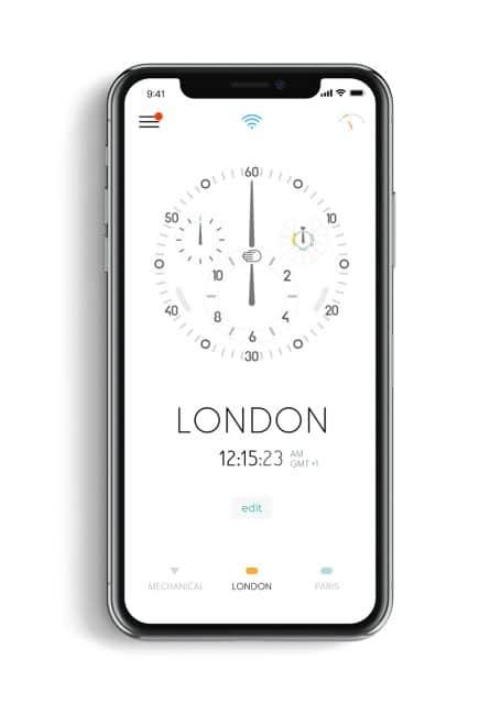 Über eine App kann die Uhr sekundengenau eingestellt werden