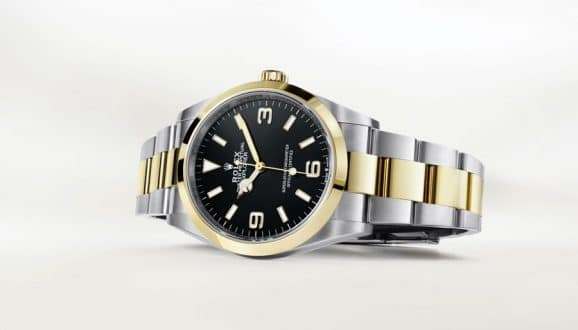 Rolex: die Explorer von 2021 aus Edelstahl und Gelbgold
