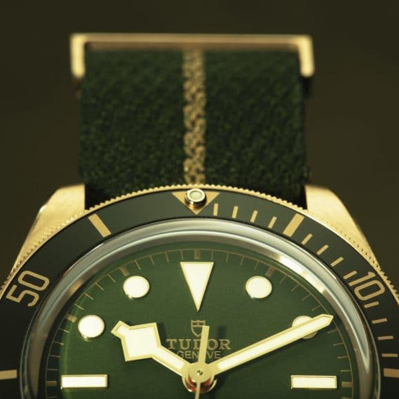 Tudor: Black Bay Fifty-Eight 18K mit Grün-Gold-Akzenten bis hin zum Textilband