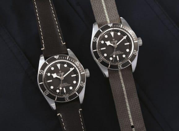 Tudor: Black Bay Fifty-Eight 925 mit Textil- oder Lederband