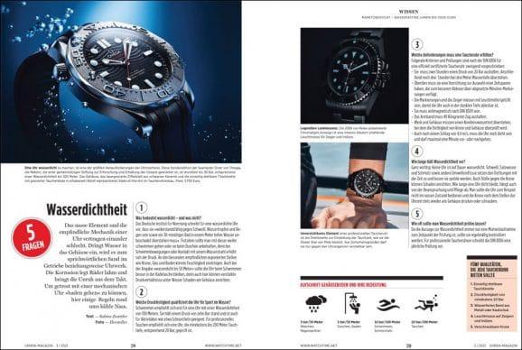 UHREN-MAGAZIN Heft 3/2021: Marktübersicht wasseraffine Uhren