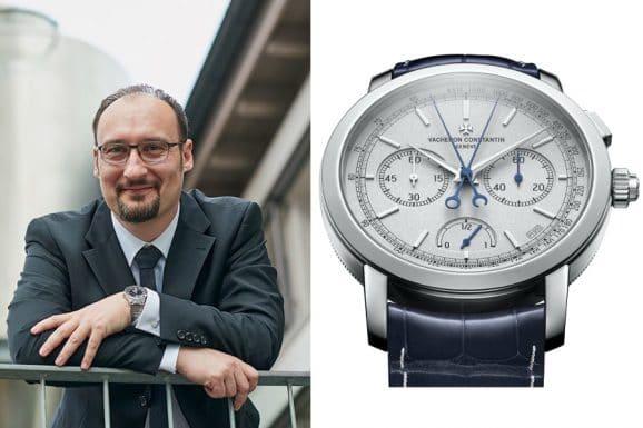 Roger Rüegger, Chefredakteur WatchTime USA, gefällt die Traditionnelle Split-Seconds Chronograph Ultra-Thin Collection Platine von Vacheron Constantin