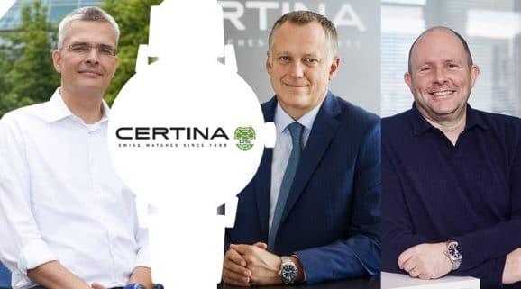 Watchtime Spotlight mit Certina: Rüdiger Bucher, Marc Aellen und Martial Bringolf