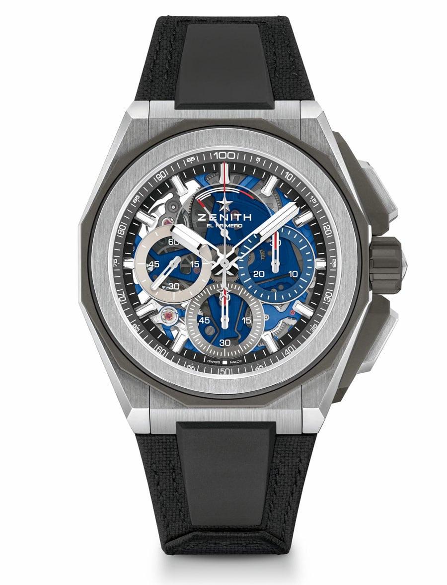 Zenith: Defy Extreme, Version Blau, Titan poliert mit Velcro-Armband, 17.600 Euro