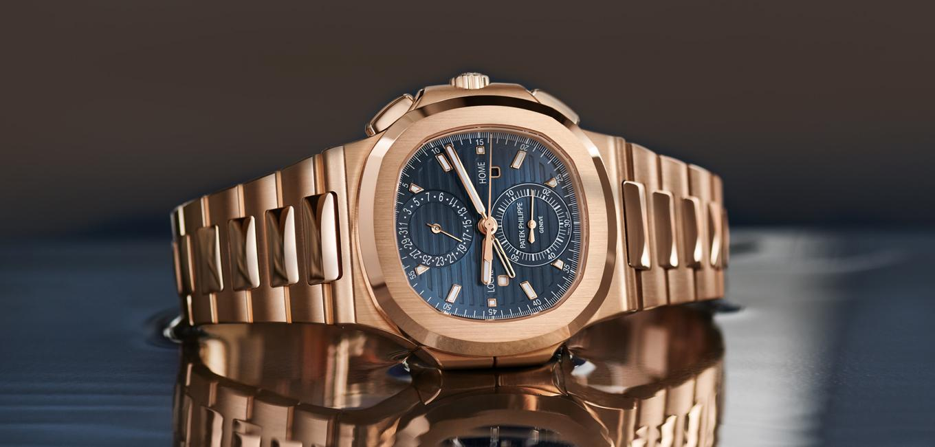 Patek Philippe Nautilus Travel Time Chronograph in Rotgold (Ref. 5990/1R)