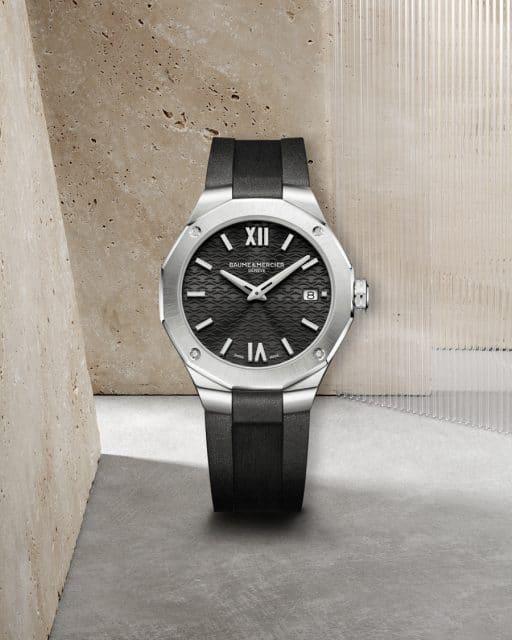 Baume & Mercier: Riviera Baumatic 10613 - Quarzuhr, Datumsanzeige, Diamantenbesatz, 36 Millimeter