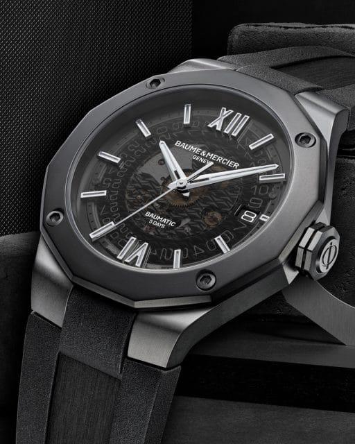 Baume & Mercier: Riviera Baumatic 10617 - Automatikuhr, Datumsanzeige, 42 Millimeter, schwarz