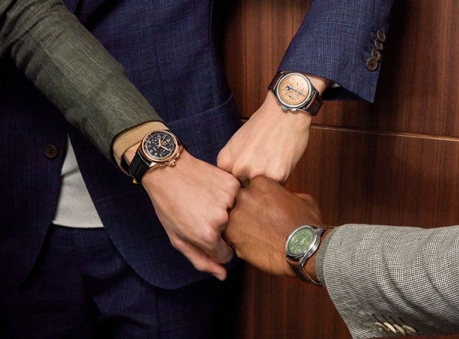 Breitling Premiere Heritage Kollektion Chronographen am Handgelenk
