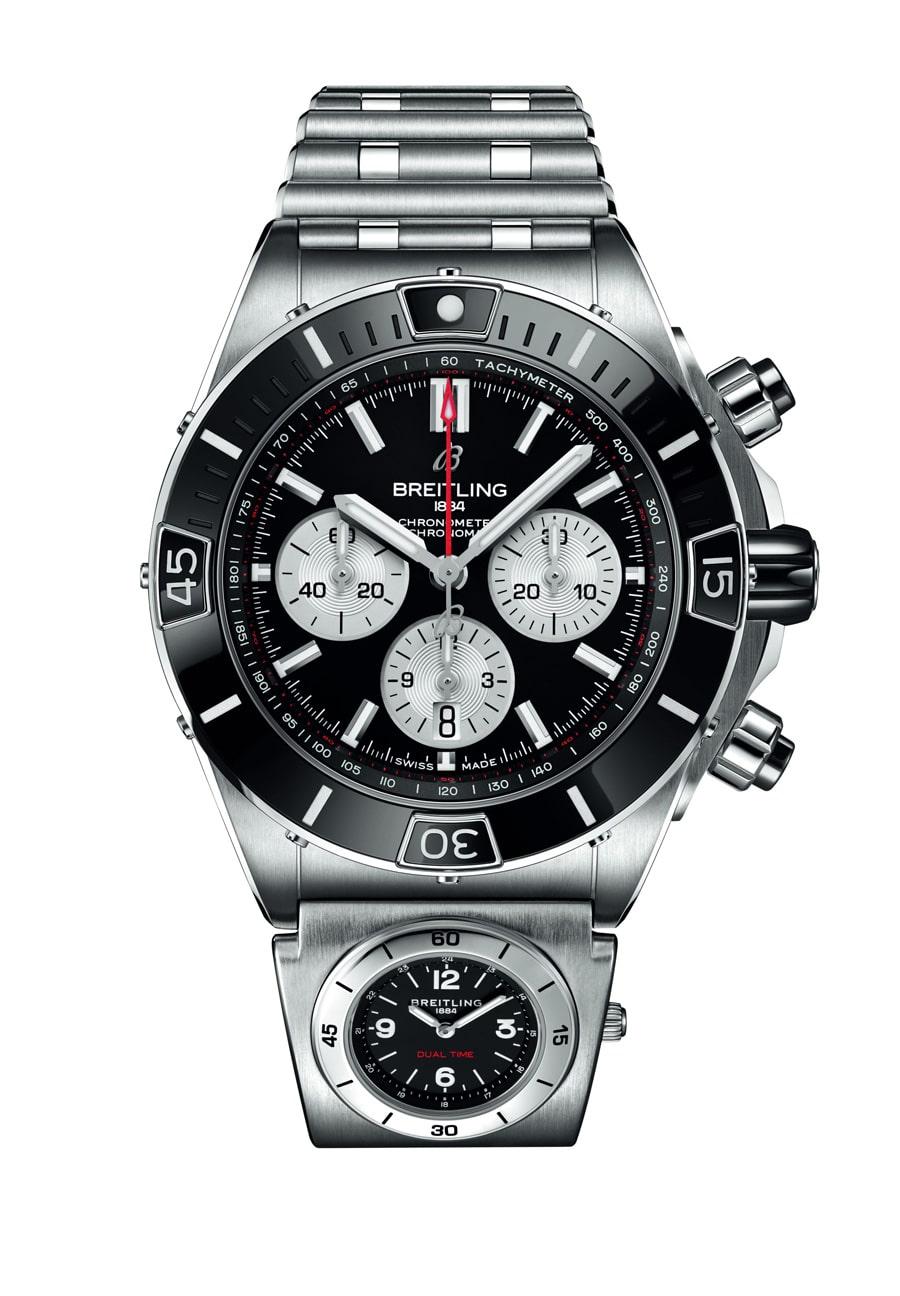 Breitling: Super Chronomat  B01 44 mit zweiter Zeitzone