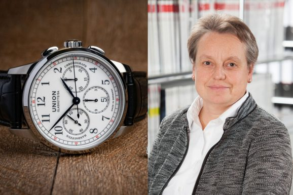 Retro-Favorit von Martina Richter: Union Glashütte1893 Johannes Dürrstein Edition Handaufzug Chronograph