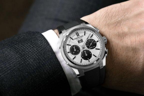 Parmigiani: Tondagraph GT Steel Silver Black mit Kautschukband