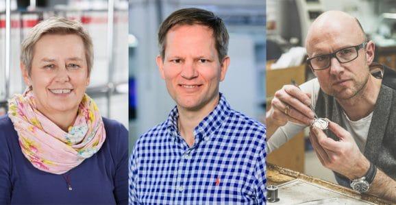 Uhrenkreuzfahrt auf der Donau 2021: Das Team an Bord; Bettina Rost (Reiseleitung), Jens Koch (Redakteur Chronos und Rolex-Spezialist) und Ulrich Kriescher (Uhrmacher) (von links)