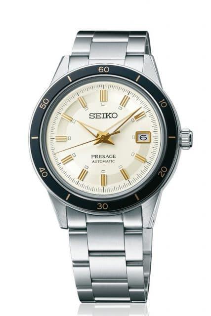 """Seiko: Presage """"Style60's"""" SRPG03J1 mit elfenbeinfarbenem Zifferblatt"""