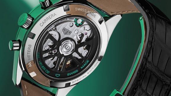 TAG Heuer: Carrera Green Limited Edition Rückseite
