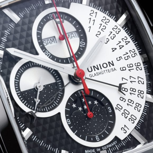 Union Glashütte Averin Zifferblatt Closeup