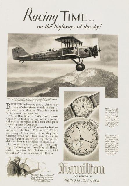 Alte Hamilton-Anzeige um 1930