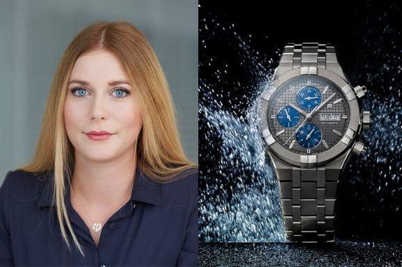 Nadja Ehrlich wählt zur EM 2021 die Maurice Lacroix Aikon Chronograph Automatic Titanium