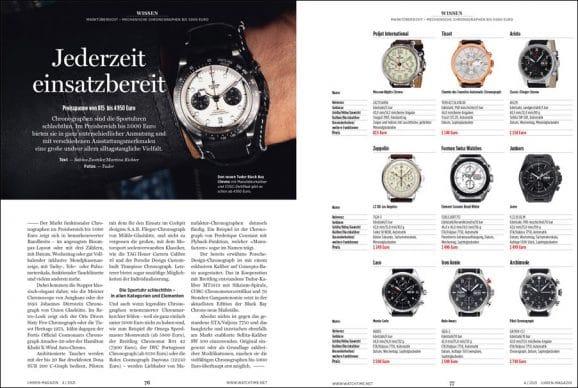 UHREN-MAGAZIN Heft 4/2021: Chronographen bis 5.000 Euro