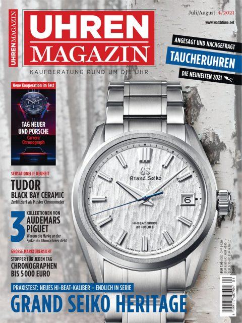 UHREN-MAGAZIN Heft 4/2021, ab 02. Juli 2021 im Online-Shop und am Kiosk