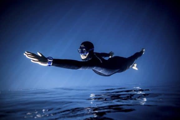 Taucheruhrenspecial 2021: Panerai Submersible Blu Notte - Guillaume Nery Panerai Ambassador 2019