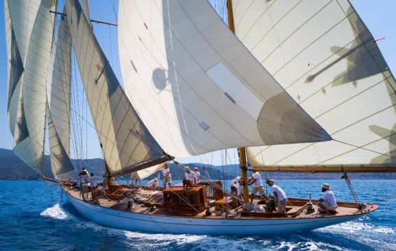 Aufwändig restauriert: die Segelyacht Eilean stammt aus dem Jahr 1936