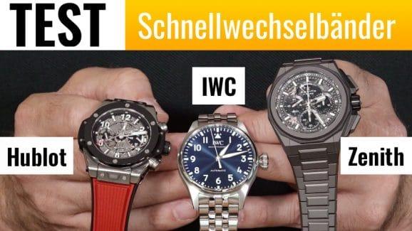 Video: Schnellwechselbänder von Hublot, IWC und Zenith im Vergleich