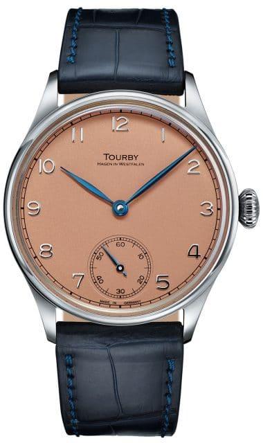 Tourby Watches: Art Déco Salmon Dial