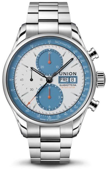 Union Glashütte: Viro Chronograph Silvretta Klassik 2021 mit Edelstahlband