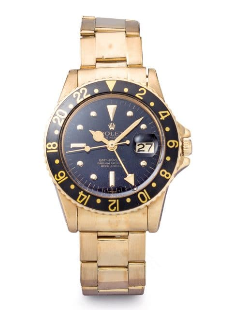 Rolex Oyster Perpetual GMT-Master, Referenz 1675 in Gelbgold