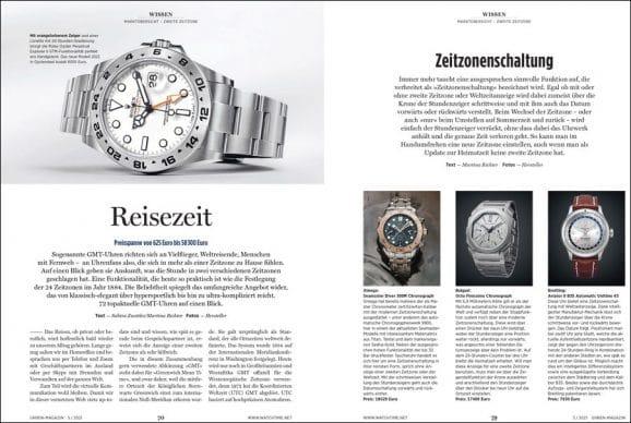 UHREN-MAGAZIN-Ausgabe 5/2021: Uhren mit zweiter Zeitzone